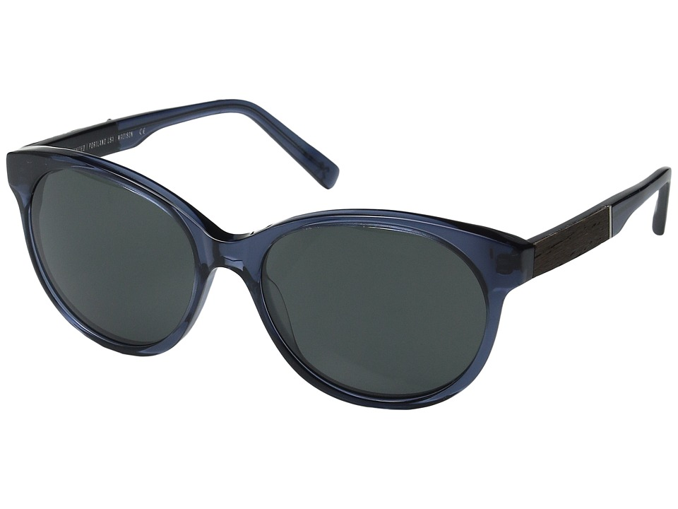Shwood - Madison (Blue Crystal/Ebony/Grey) Fashion Sunglasses