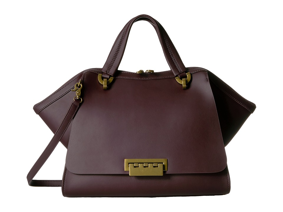 ZAC Zac Posen - Eartha Iconic Jumbo Double Handle (Merlot) Top-handle Handbags