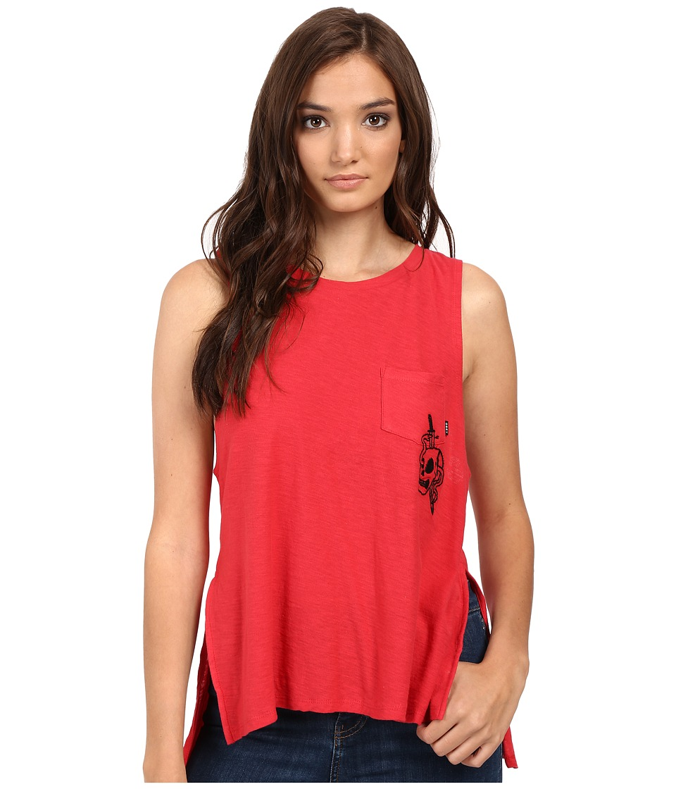 Obey - Harper Embroidered Tank Top (Poppy) Women's Sleeveless