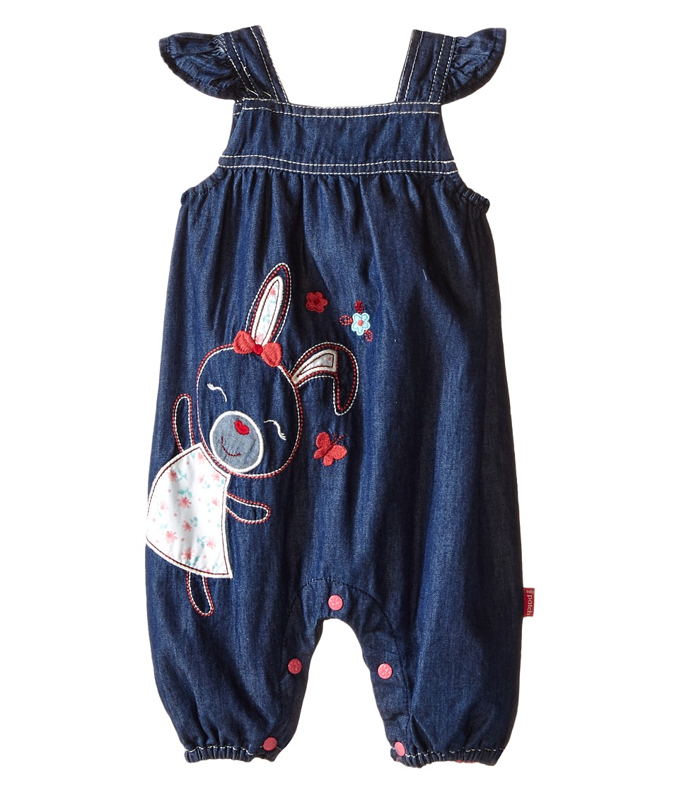 Pumpkin Patch Kids - Denim Bunny All-in-One Romper (Infant) (Denim) Girl's Jumpsuit & Rompers One Piece