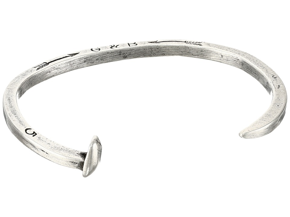 Giles & Brother - Skinny Railroad Spike Cuff (Silver Oxide) Bracelet