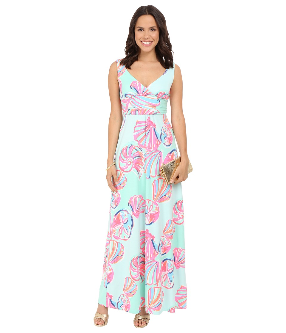 Lilly Pulitzer - Sloane Maxi Dress (Minty Fresh On The Rocks) Women's Dress