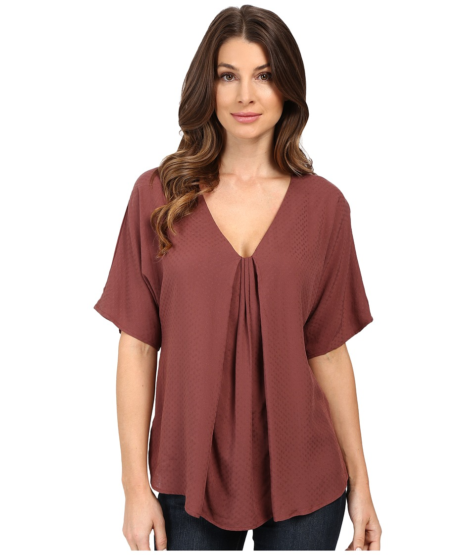 B Collection by Bobeau - Presley Front Pleat Blouse (Mauve) Women's Blouse