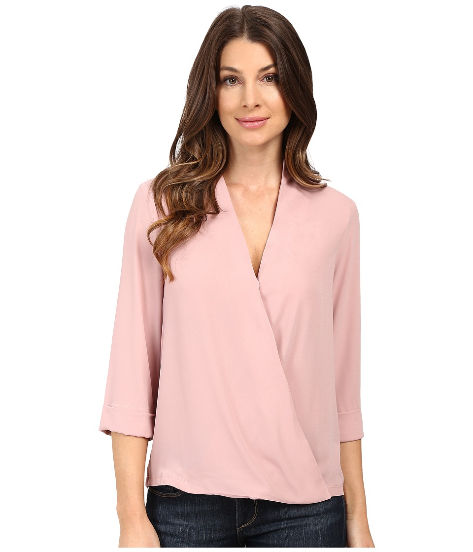 B Collection by Bobeau - Wes Cross Front Woven Blouse (Mauve) Women's Blouse
