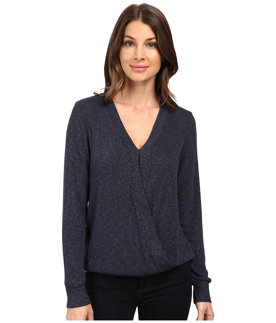 B Collection by Bobeau - Mavis Cross Front Knit Top (Navy) Women's Clothing