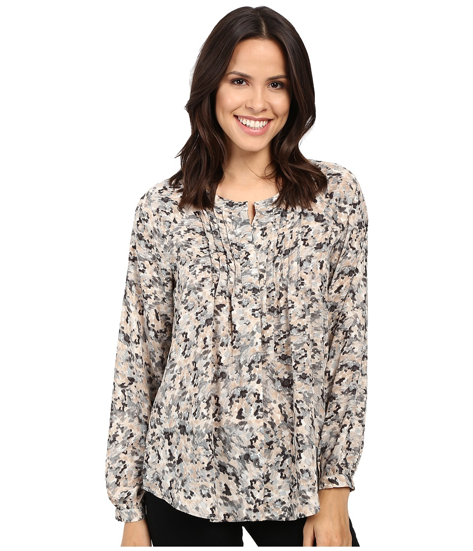 B Collection by Bobeau - Sandra Knife Pleat Blouse (Multi Print) Women's Blouse