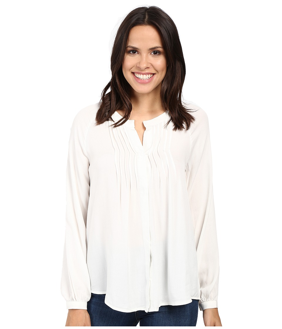 B Collection by Bobeau - Sandra Knife Pleat Blouse (Ivory) Women's Blouse