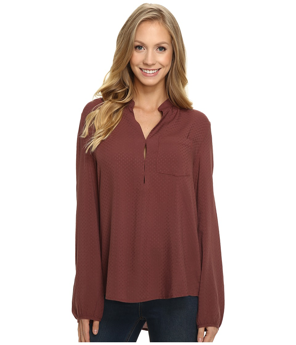 B Collection by Bobeau - Janice Pocket Blouse (Mauve) Women's Blouse