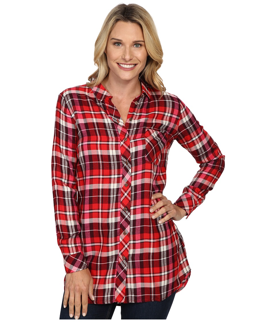 KUT from the Kloth - Collin (Red/Burgundy) Women's Long Sleeve Button Up