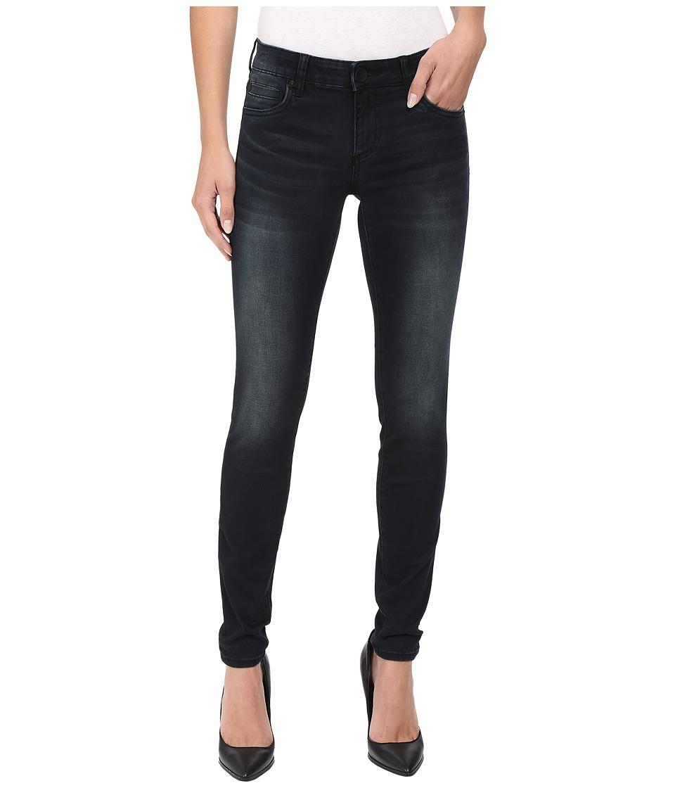 KUT from the Kloth - Mia Toothpick Five-Pocket Skinny Jeans in Black (Black) Women's Jeans