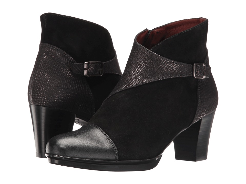 Hispanitas - Blaire (Soho Black/Crosta Black/Tejus Black) Women's Shoes