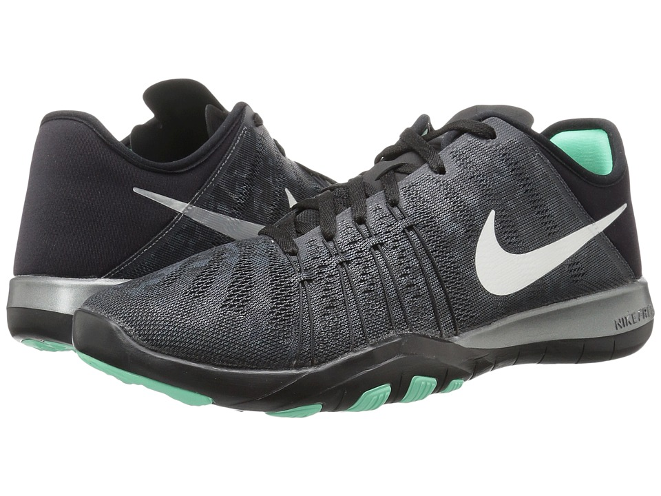 Nike - Free TR 6 Metallic (Dark Grey/Metallic Silver/Black/Green Glow) Women's Cross Training Shoes