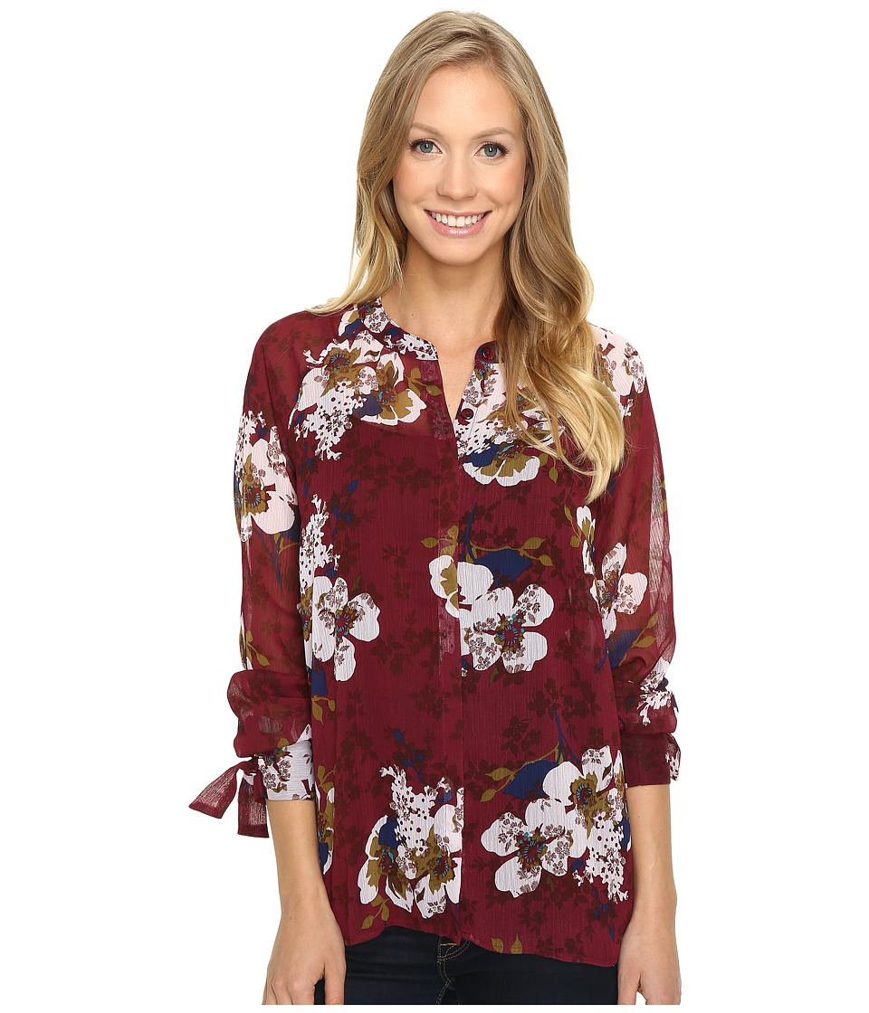 KUT from the Kloth - Jillian (Rosewood) Women's Long Sleeve Button Up