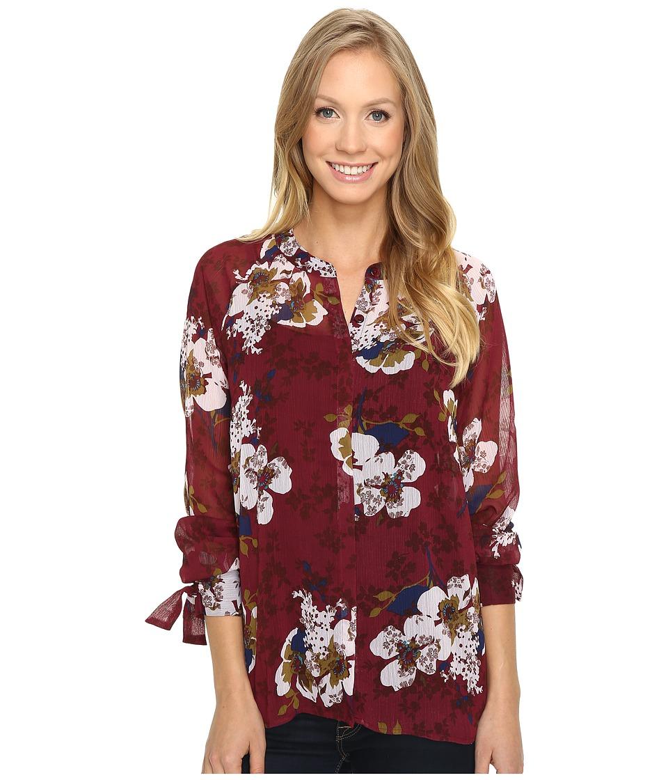 KUT from the Kloth - Jillian (Rosewood) Women's Long Sleeve Button Up