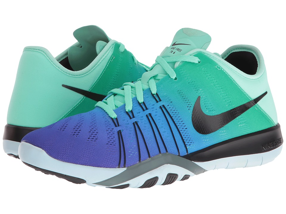 Nike - Free TR 6 Spectrum (Green Glow/Black/Glacier Blue) Women's Cross Training Shoes