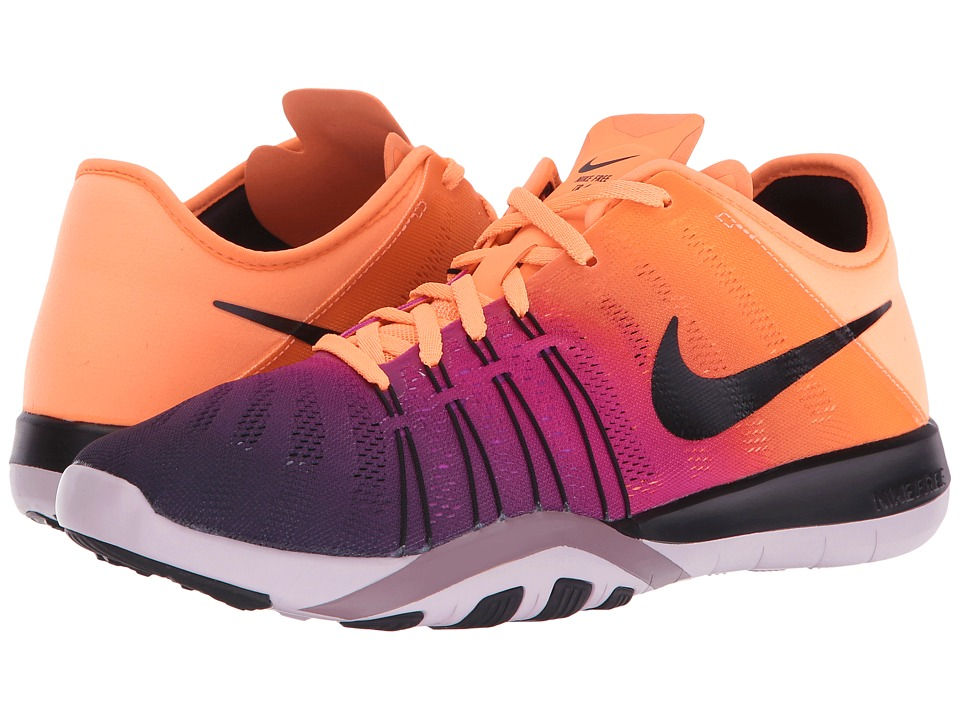 Nike - Free TR 6 Spectrum (Bright Mango/Black/Bleached Lilac/Purple) Women's Cross Training Shoes