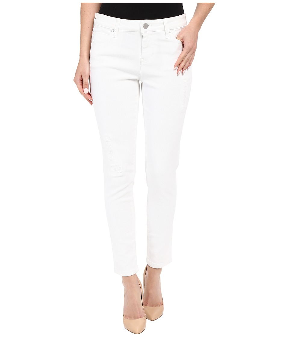 Liverpool - Penny Lightweight Ankle Jeans w/ Destruction in Bright White (Bright White) Women's Jeans