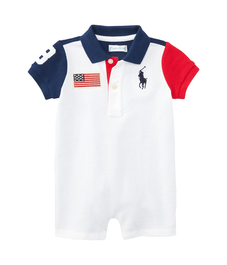 Ralph Lauren Baby - Color Block One-Piece Shortalls (Infant) (Spring Navy) Boy's Overalls One Piece