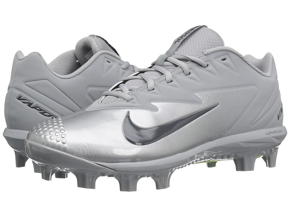 Nike - Vapor Ultrafly Pro MCS (Wolf Grey/Dark Grey/Metallic Silver/White) Men's Cleated Shoes