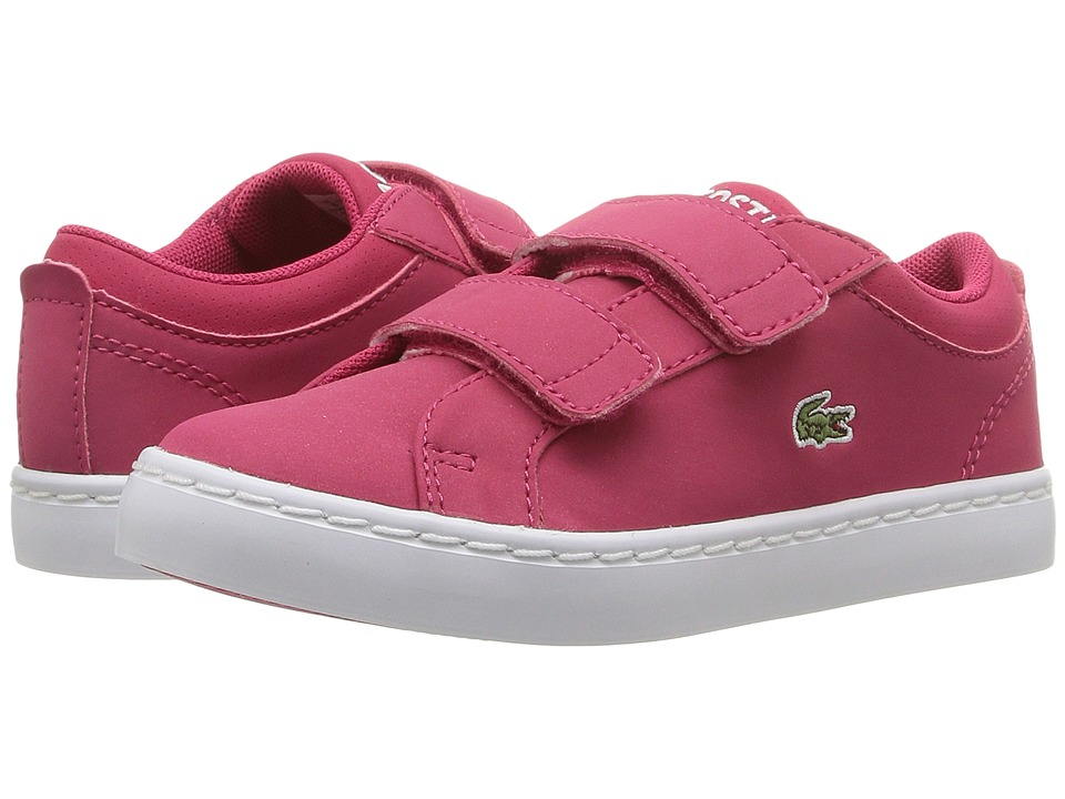 Lacoste Kids - Straightset Lace 316 3 SPI (Toddler/Little Kid) (Dark Pink) Girl's Shoes