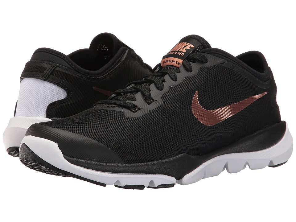 Nike - Flex Supreme TR4 (Black/Metallic Red Bronze/White) Women's Cross Training Shoes