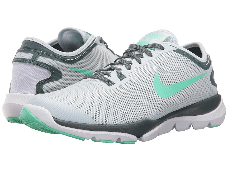 Nike - Flex Supreme TR4 (Blue Tint/Green Glow/Hasta/White) Women's Cross Training Shoes