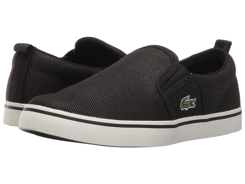 Lacoste Kids - Gazon 316 1 SPC (Little Kid) (Black) Kid's Shoes