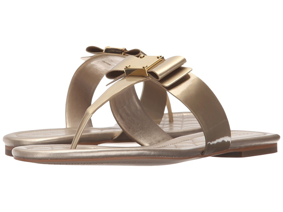 Cole Haan - Tali Bow Sandal (Soft Gold Patent) Women's Sandals