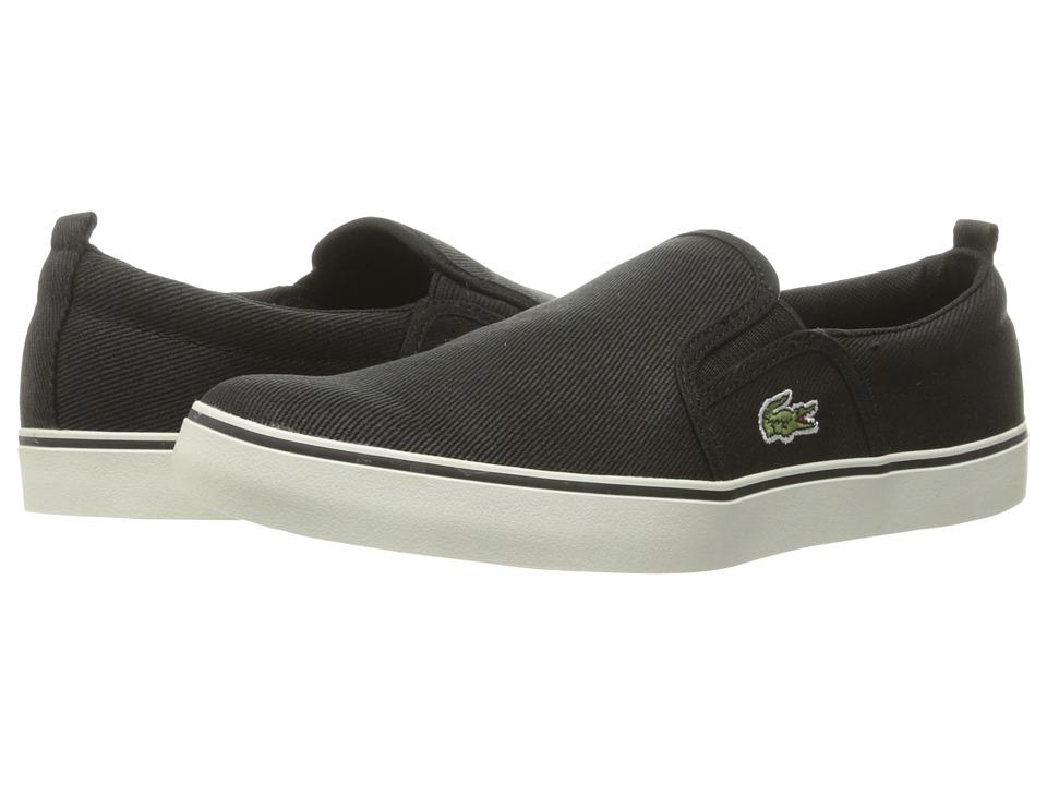 Lacoste Kids - Gazon 316 1 SPJ (Little Kid/Big Kid) (Black) Kid's Shoes