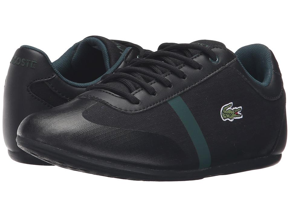 Lacoste Kids - Misano 316 1 SPJ (Little Kid/Big Kid) (Black) Kid's Shoes