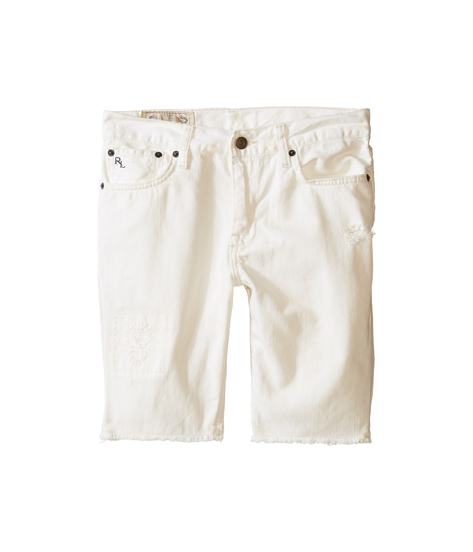 Polo Ralph Lauren Kids - Distressed Jean Shorts (Big Kids) (Kamm Wash) Boy's Jeans