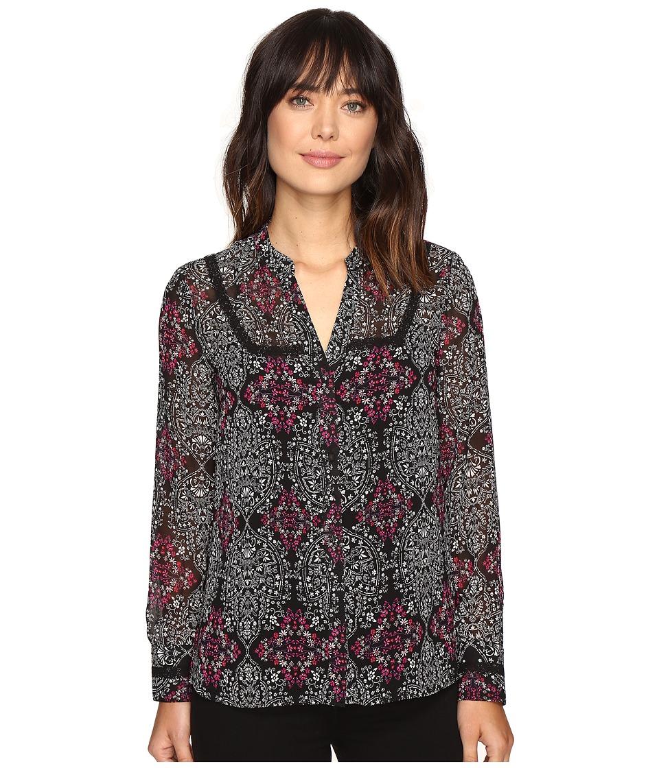 KUT from the Kloth - Camila (Black/Fuchsia) Women's Coat