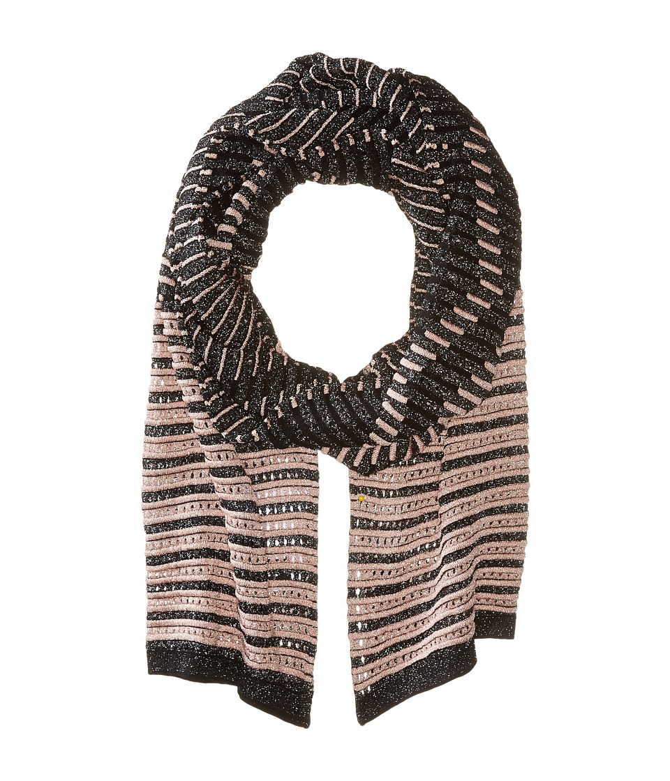 M Missoni - Lurex Scarf (Pink/Black) Scarves