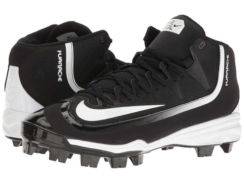 Nike - Huarache 2KFilth Pro (Black/White) Men's Cleated Shoes