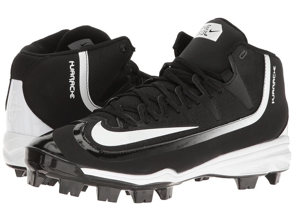 Nike Huarache 2KFilth Pro (Black/White) Men's Cleated Shoes