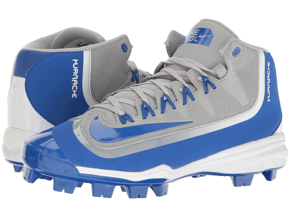 Nike - Huarache 2KFilth Pro (Wolf Grey/Game Royal/White) Men's Cleated Shoes