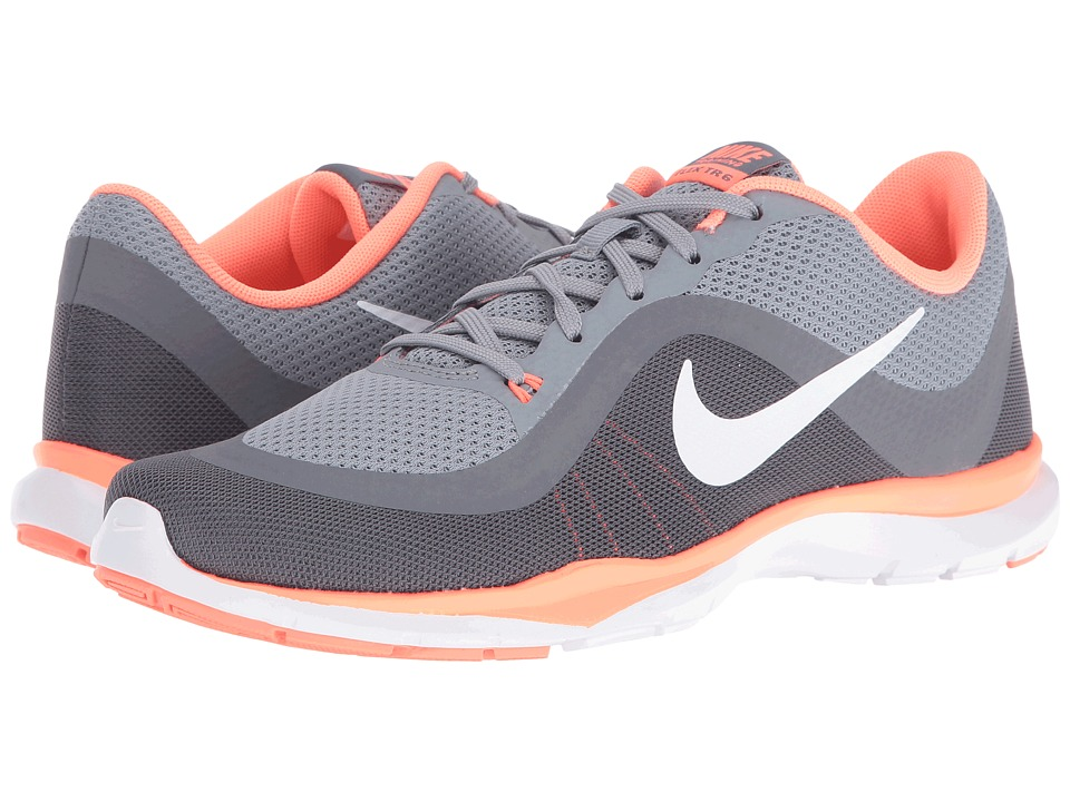 Nike - Flex Trainer 6 (Stealth/White/Bright Mango/Clear Grey) Women's Cross Training Shoes