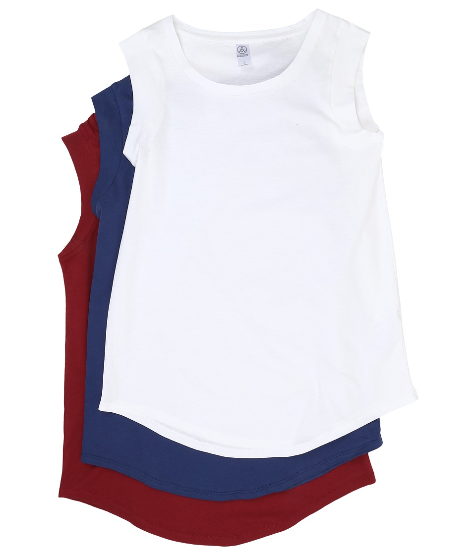 Alternative - The Luxe Crew 3-Pack Bundle (White/Navy/Redwood) Women's Sleeveless