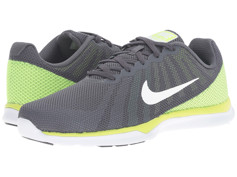 Nike - In-Season TR 6 (Dark Grey/White/Blue Cap/Green Glow) Women's Cross Training Shoes