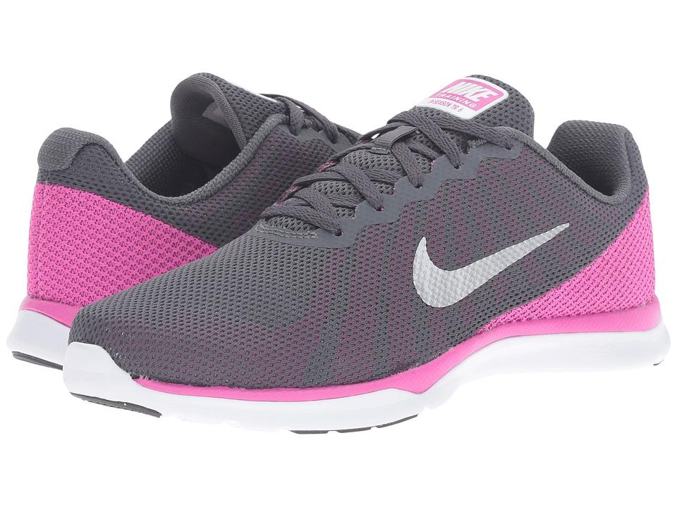 Nike - In-Season TR 6 (Dark Grey/Metallic Platinum/Force Pink/Clear Grey) Women's Cross Training Shoes