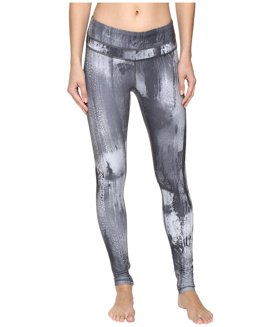 Lucy - Studio Hatha Leggings (Grey Aurora Print 2) Women's Workout