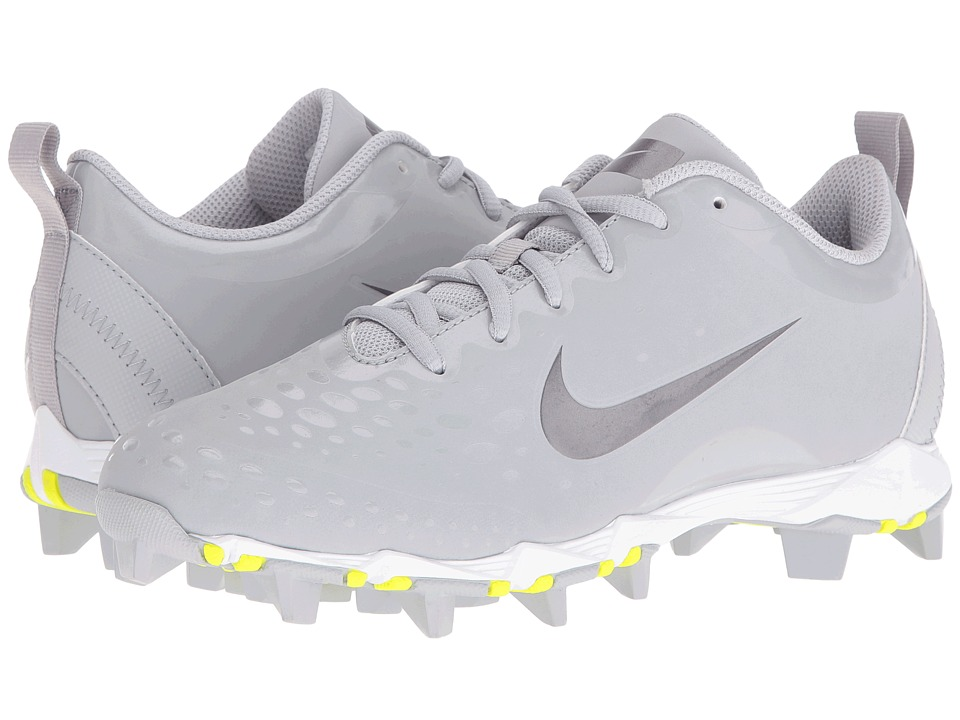 Nike - Hyperdiamond 2 Keystone (Wolf Grey/Metallic Silver/White) Women's Cleated Shoes