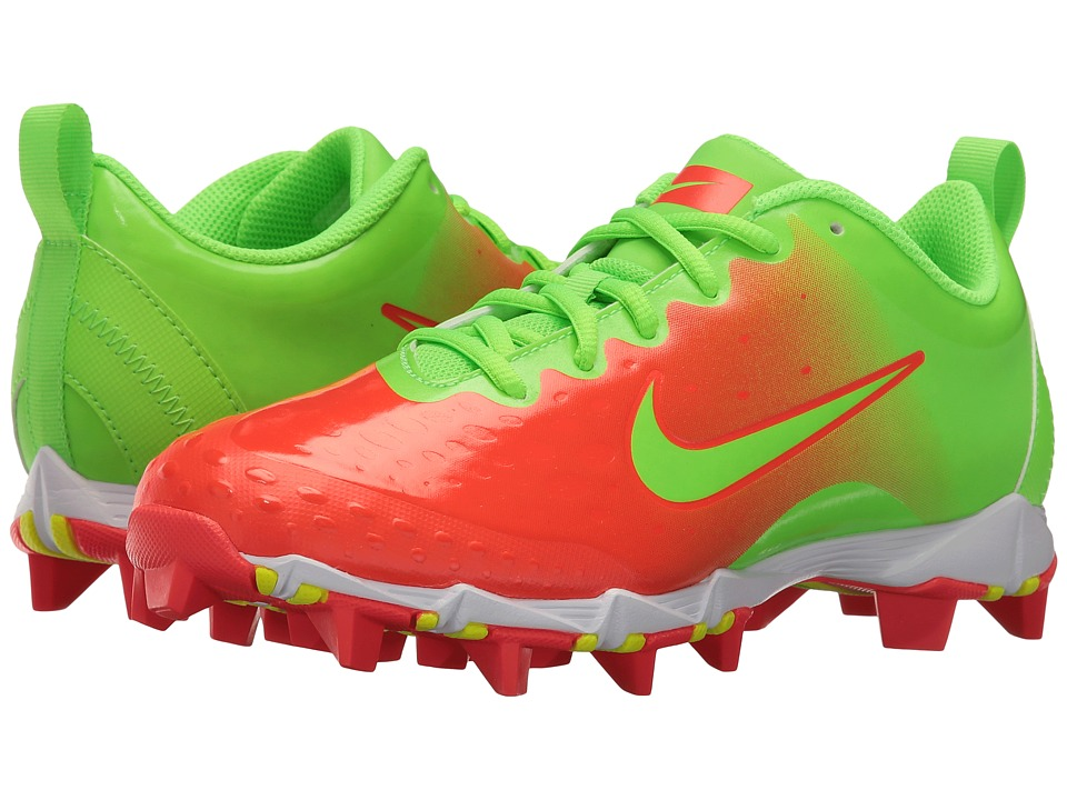 Nike - Hyperdiamond 2 Keystone (Electric Green/Electric Green/Bright Crimson) Women's Cleated Shoes