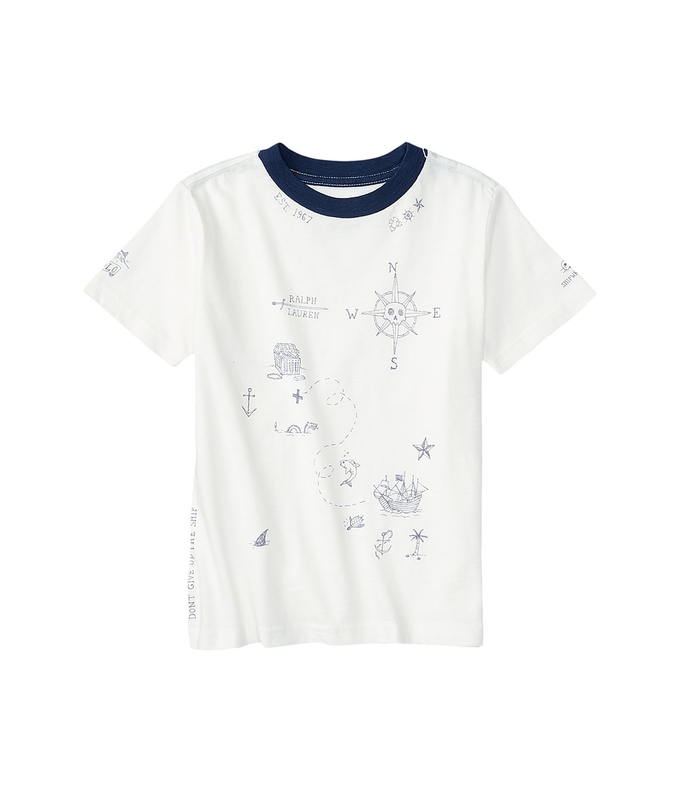 Polo Ralph Lauren Kids - Graphic Crew Neck T-Shirt (Big Kids) (Antique White) Boy's T Shirt