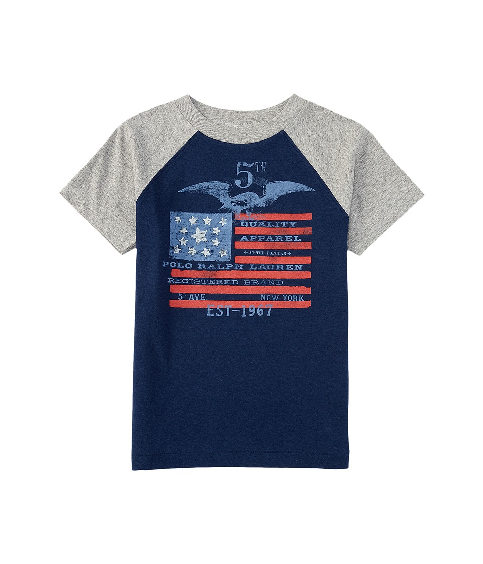Polo Ralph Lauren Kids - Flag Baseball T-Shirt (Big Kids) (Spring Navy) Boy's T Shirt