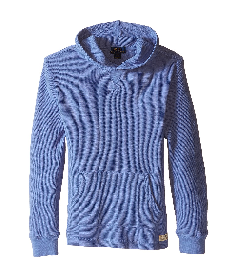 Polo Ralph Lauren Kids - Hooded Pullover (Big Kids) (Blue Water) Boy's Long Sleeve Pullover
