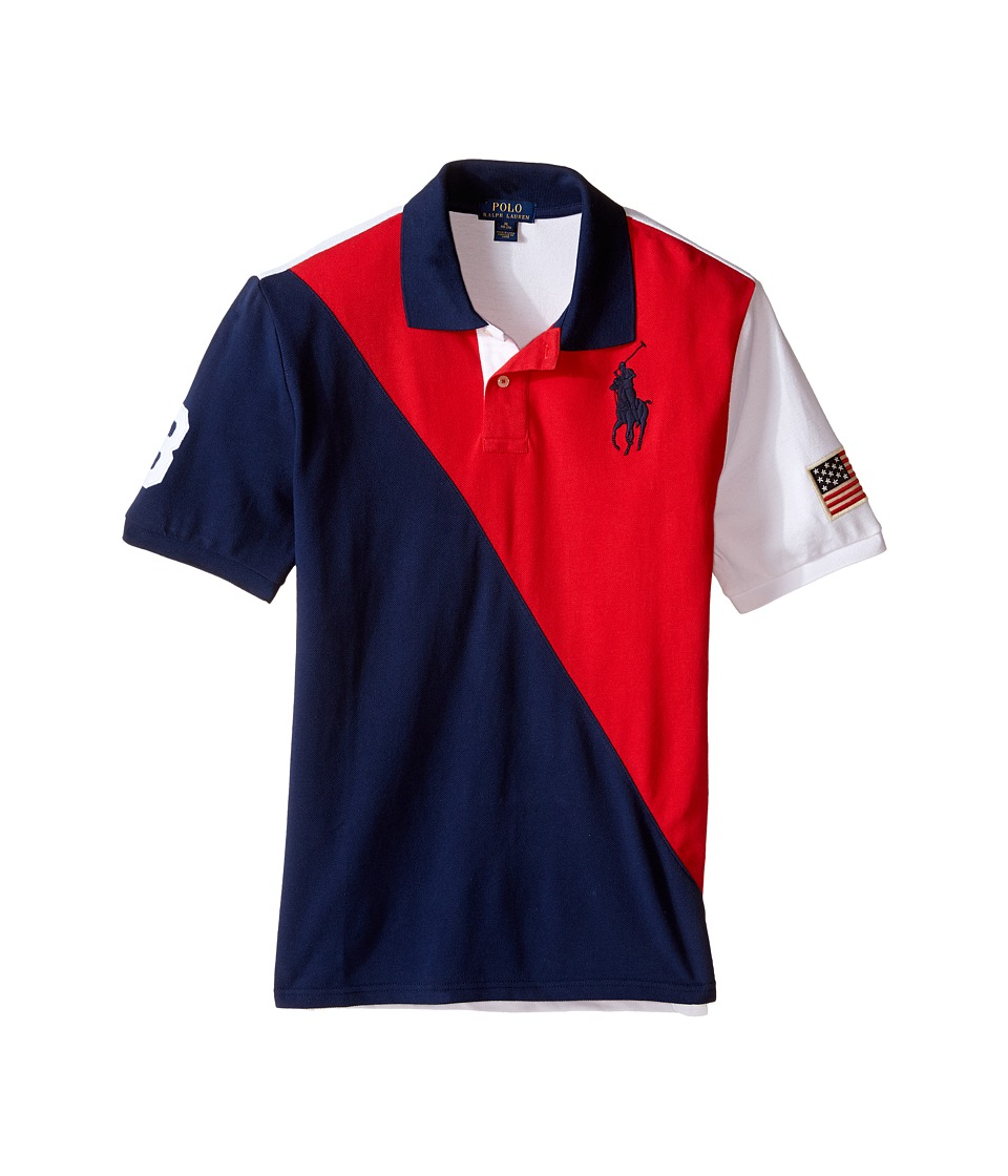 Polo Ralph Lauren Kids - Flag Polo (Big Kids) (RL 2000 Red) Boy's Short Sleeve Knit