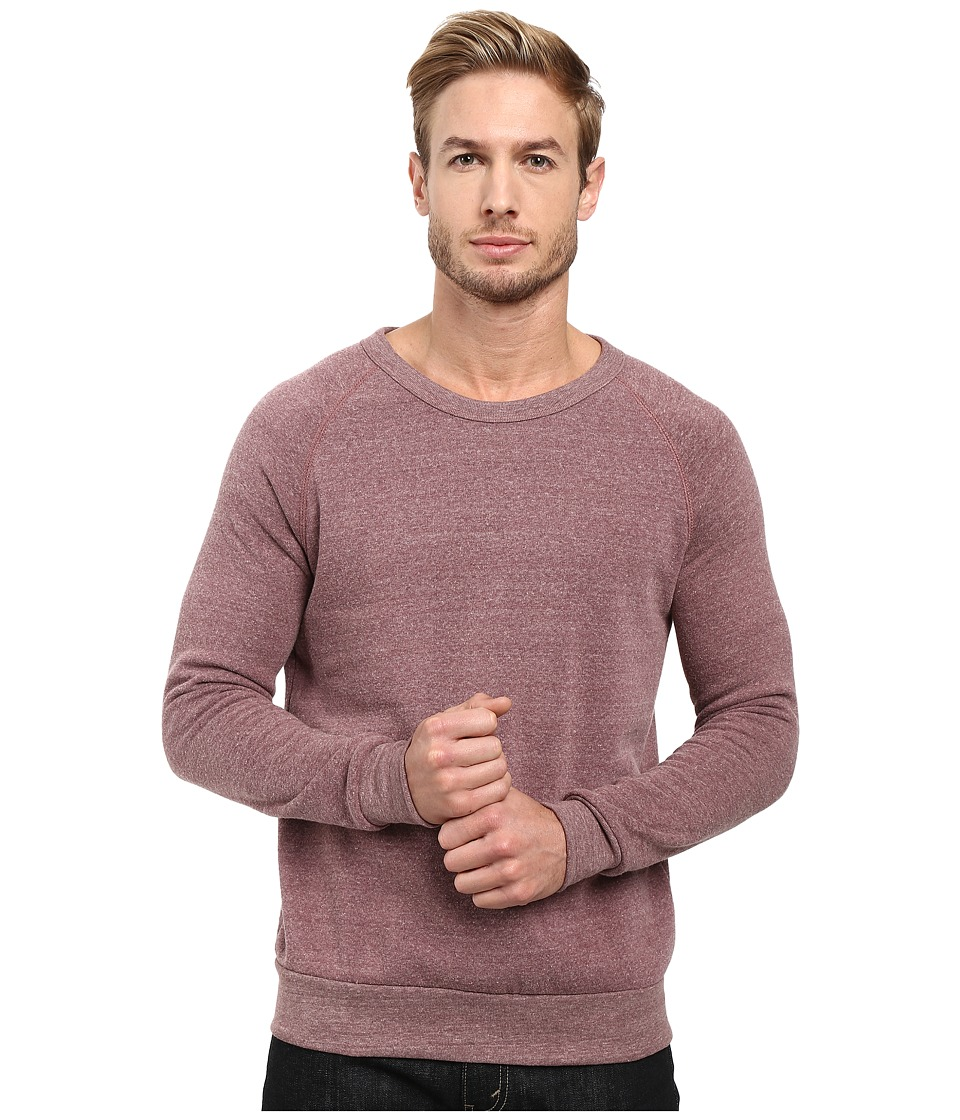 Alternative - Champ Eco Fleece Sweatshirt (Eco Aubergine) Men's Long Sleeve Pullover