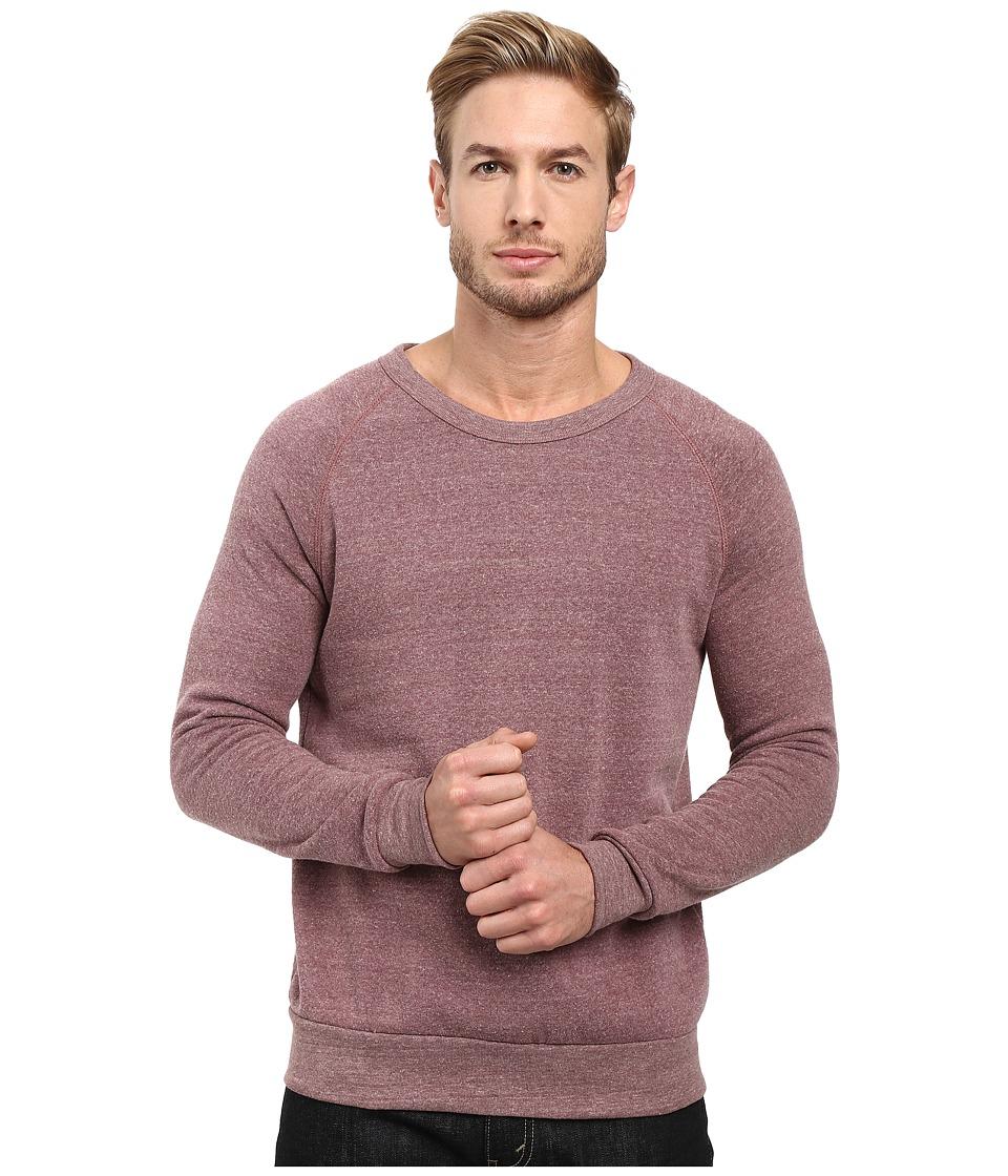 Alternative - Champ Eco Fleece Sweatshirt (Eco Aubergine) Men's Long Sleeve Pullover