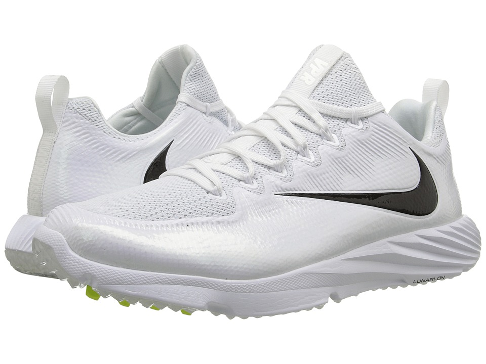 Nike - Vapor Speed Turf Lax (White/Black/Multicolor) Cleated Shoes